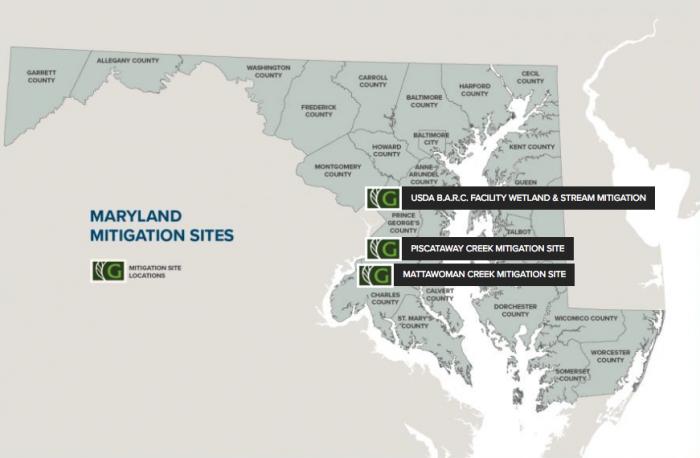 Maryland mitigation sites